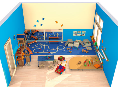 Bauraum spielen bauen raumkonzepte kinder unter 3 for Raumgestaltung kita 3 6