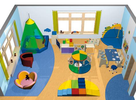 Krabbelraum gruppenr ume raumkonzepte kinder unter 3 for Raumgestaltung montessori