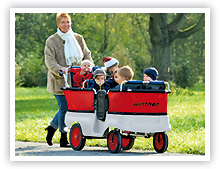 krippenwagen 6 sitzer ratgeber krippenwagen ratgeber kinder unter 3 wehrfritz gmbh. Black Bedroom Furniture Sets. Home Design Ideas