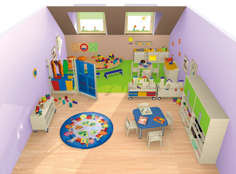 Spielraum spielen bauen raumkonzepte kinder unter for Raumgestaltung kita u3